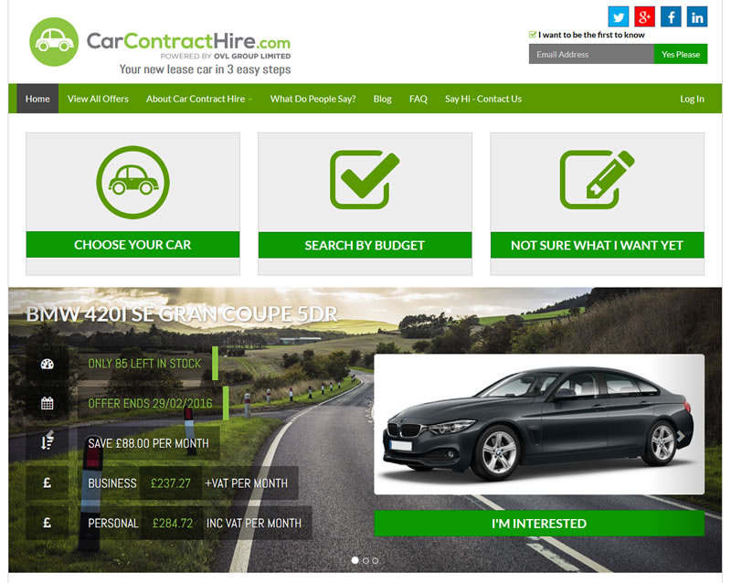 www.CarContractHire.com is launched!