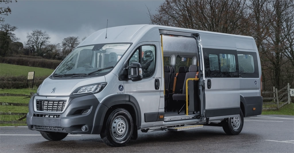 The only 17-seater in town! The Peugeot Boxer Minibus Lite is a school minibus you can drive on a car licence.