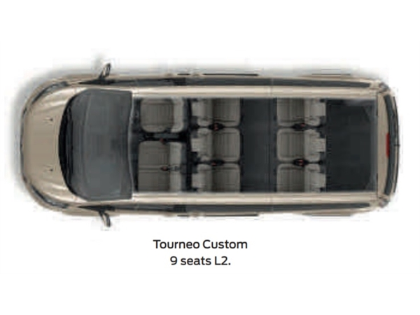 Ford TRANSIT CUSTOM TOURNEO L1 DIESEL FWD 2.0 TDCi 130ps Low Roof 8 Seater Zetec