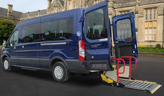 Ford TRANSIT 410 L3 MINIBUS DIESEL RWD 2.2 TDCi 125ps H3 11 Seater Trend wheelchair conversion - MAINTAINED